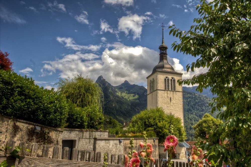 Switzerland, Gruyères, The Church
