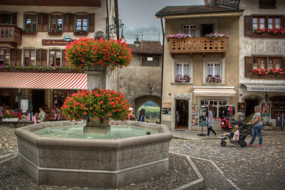 Switzerland, Gruyères, The Old Fountain