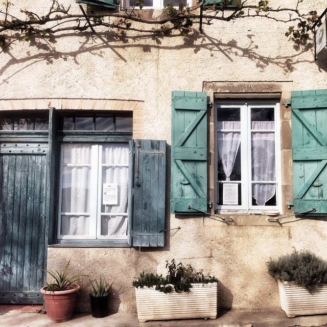 France, Albi, Colorful Shutters