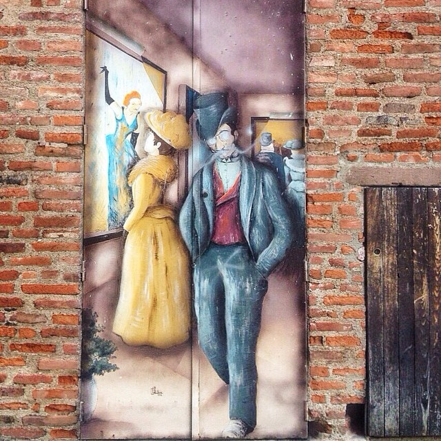 France, Albi, Street Art and Red Bricks