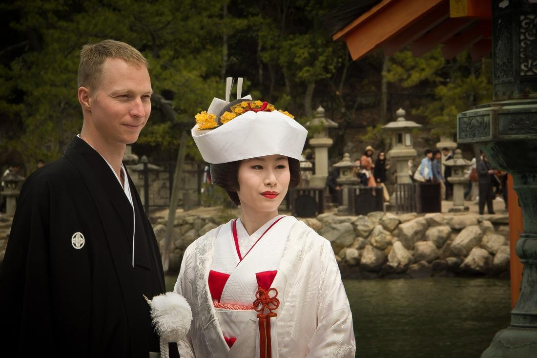 Traditional Japanese Wedding in Miyajima