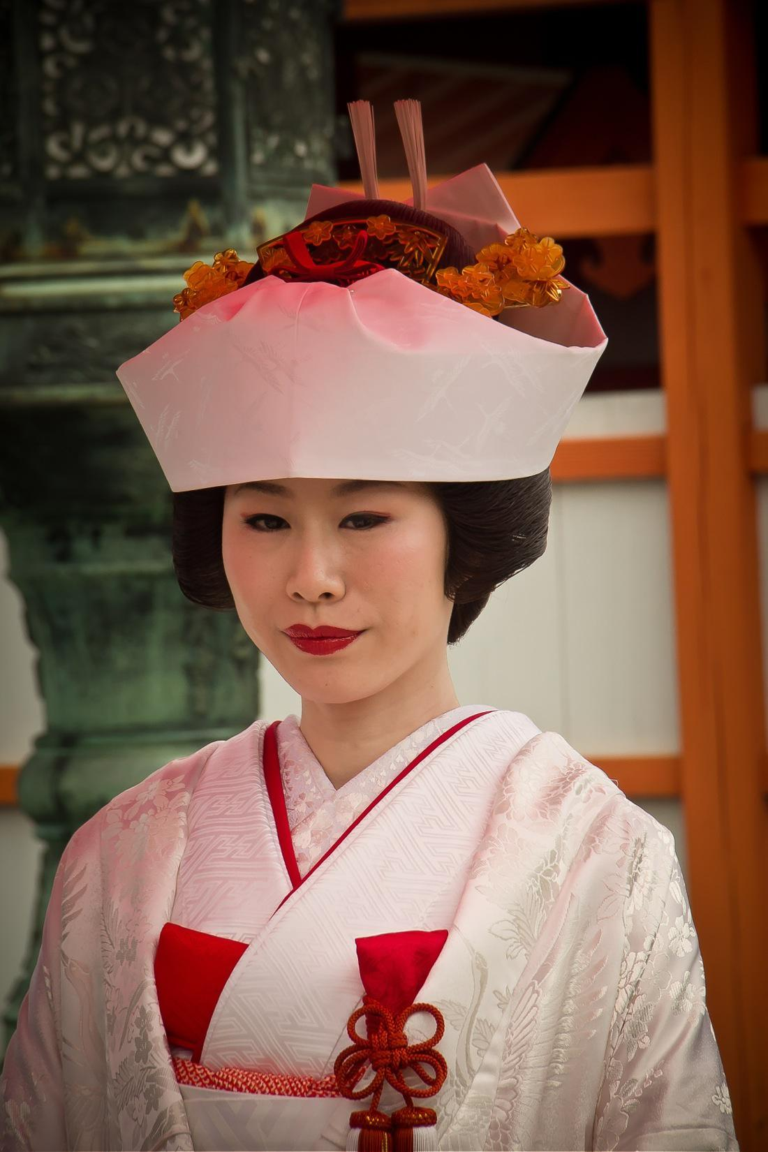 Japanese Bride in Miyajima