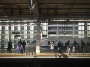 The Shinkansen in Kyoto