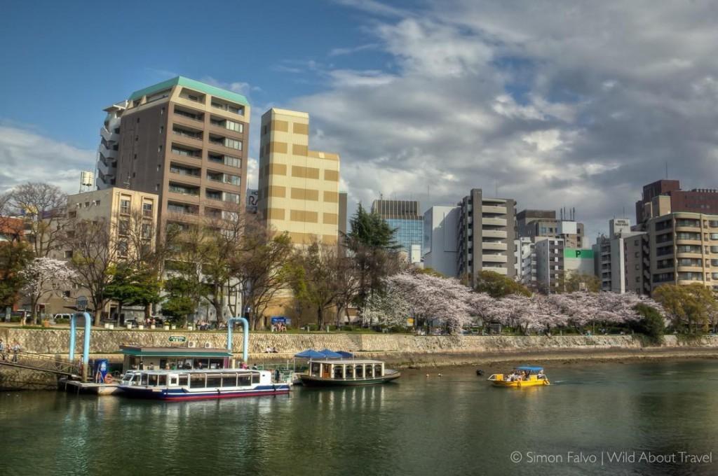 Hiroshima, Boats Along the River,