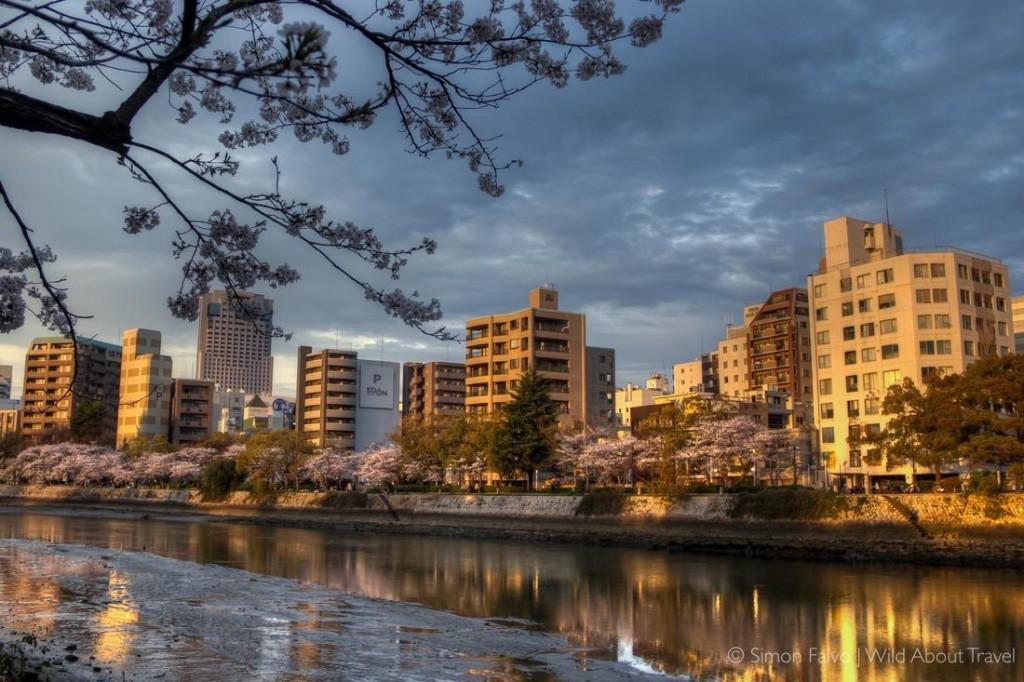 Hiroshima - Sunset Along the River