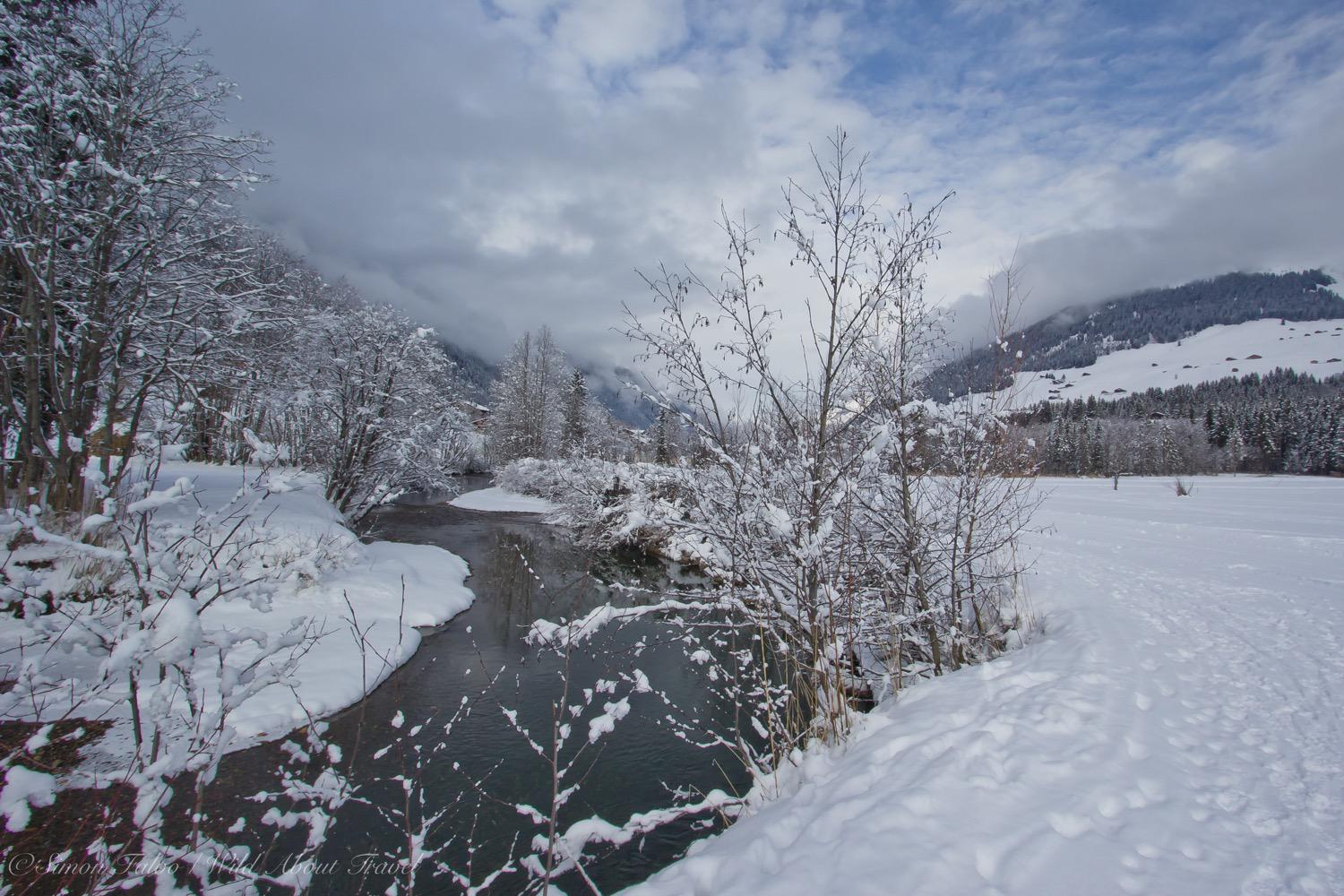 Switzerland, Lauenen in Winter