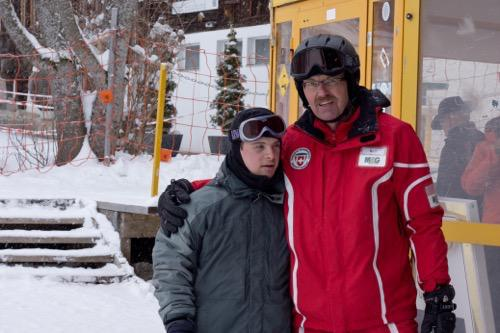 Skiing with disabled in Gstaad