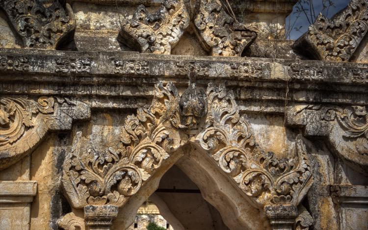 Burma, Bagan, Intricate Window Carvings