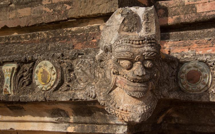 Burma, Bagan, Sulamani Temple Ogre