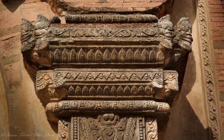 Burma, Bagan Temples Decorations