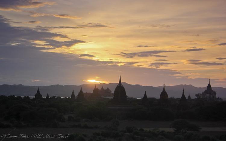 Burma, Bagan at Sunset