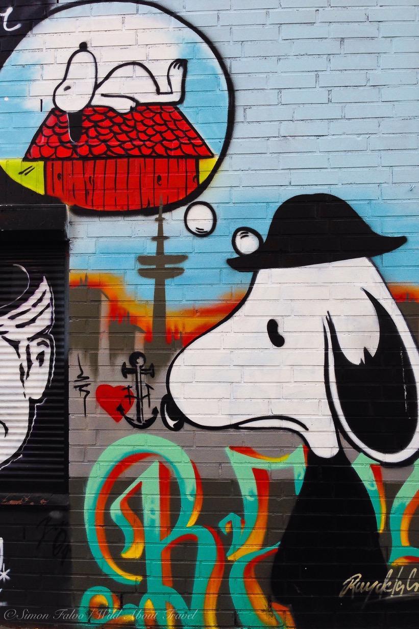 Hamburg Snoopy Graffiti
