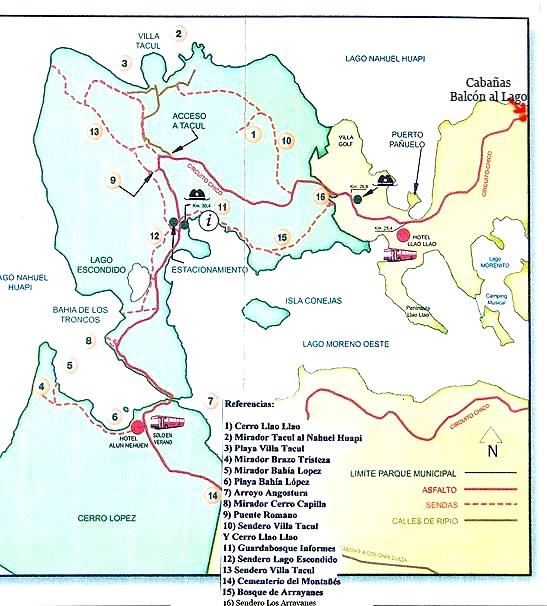 Llao Llao Hiking Map