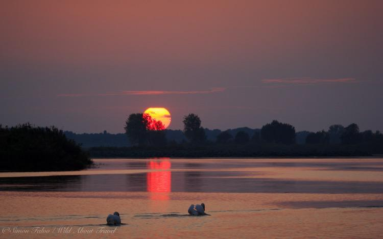 Italy, Mantua, Sunset on the Lake