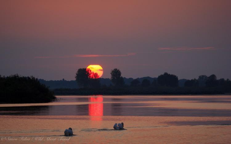 Italy, Mantua, Sunset on the Lake