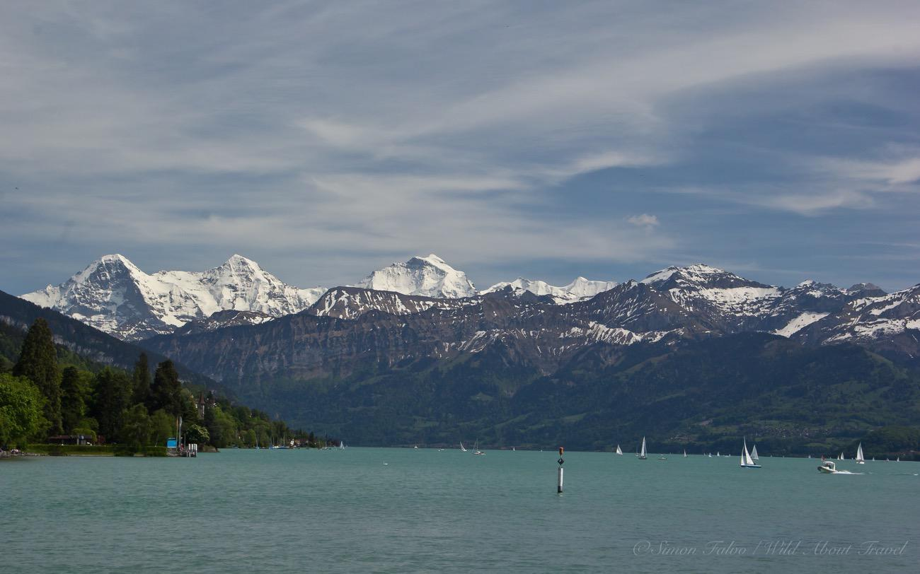 Switzerland, Lake Thun and the Alps