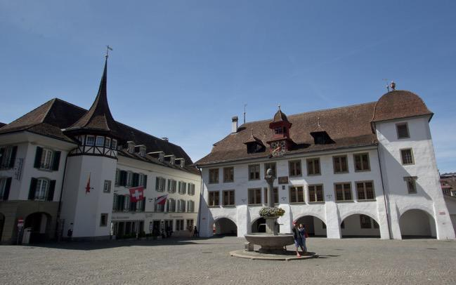 Switzwerland, Thun, The Town Hall Square