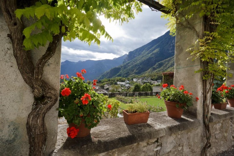 Chiavenna from Palazzo Vertemate Franchi
