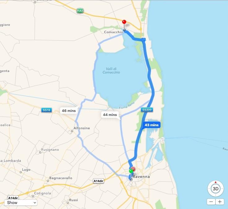 Map Ravenna-Comacchio