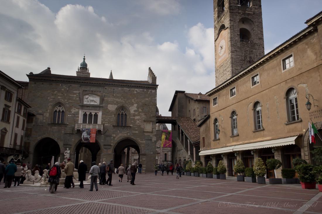 Bergamo, The Medieval Piazza Vecchia