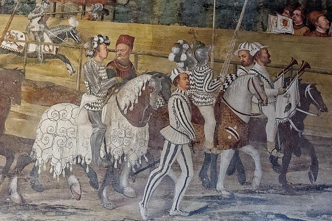 Frescoes, Malpaga Castle