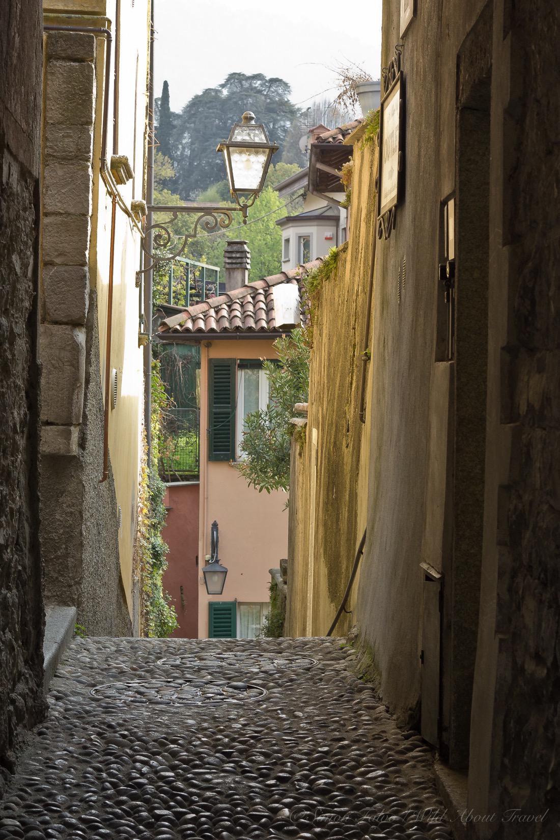 Italy, Bellagio Cobblestone Alleys