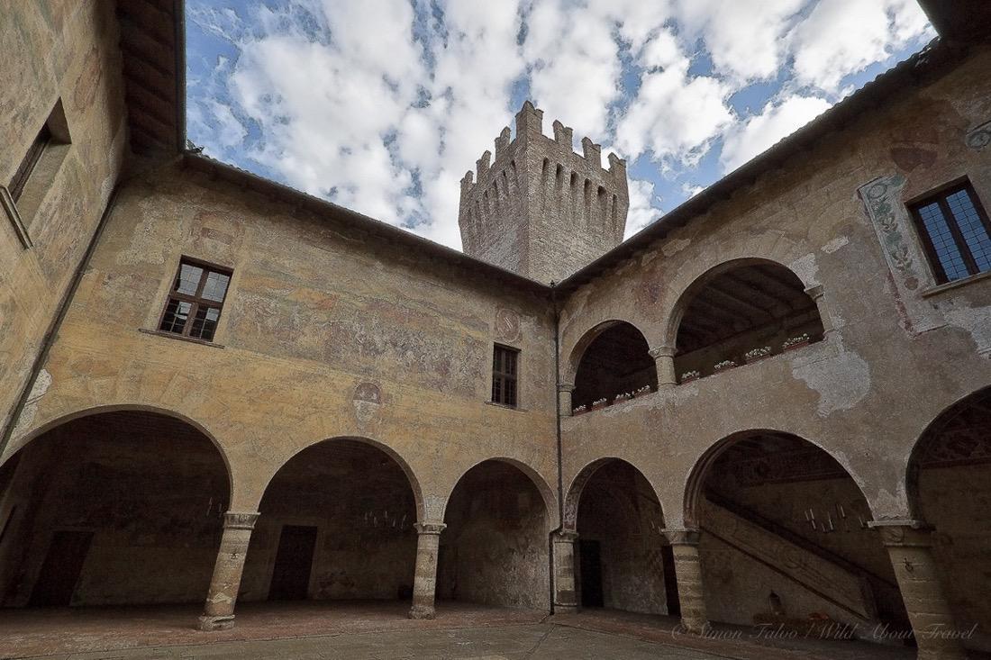 Malpaga Castle Courtyard