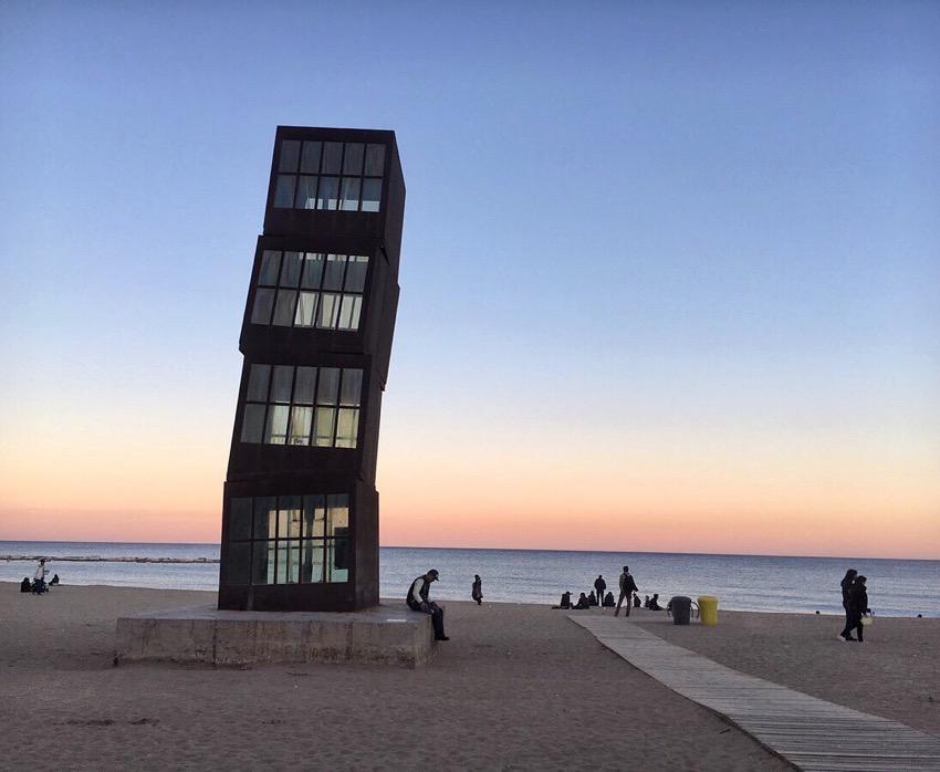 Sunset at Barceloneta Beach