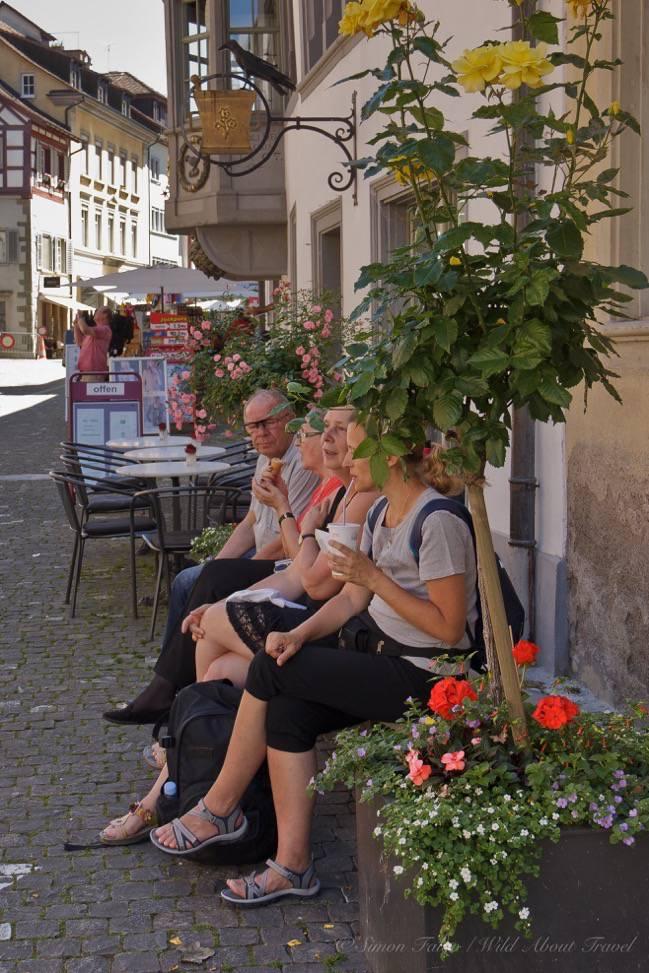 Stein am Rhein, Chatting in the Old Town