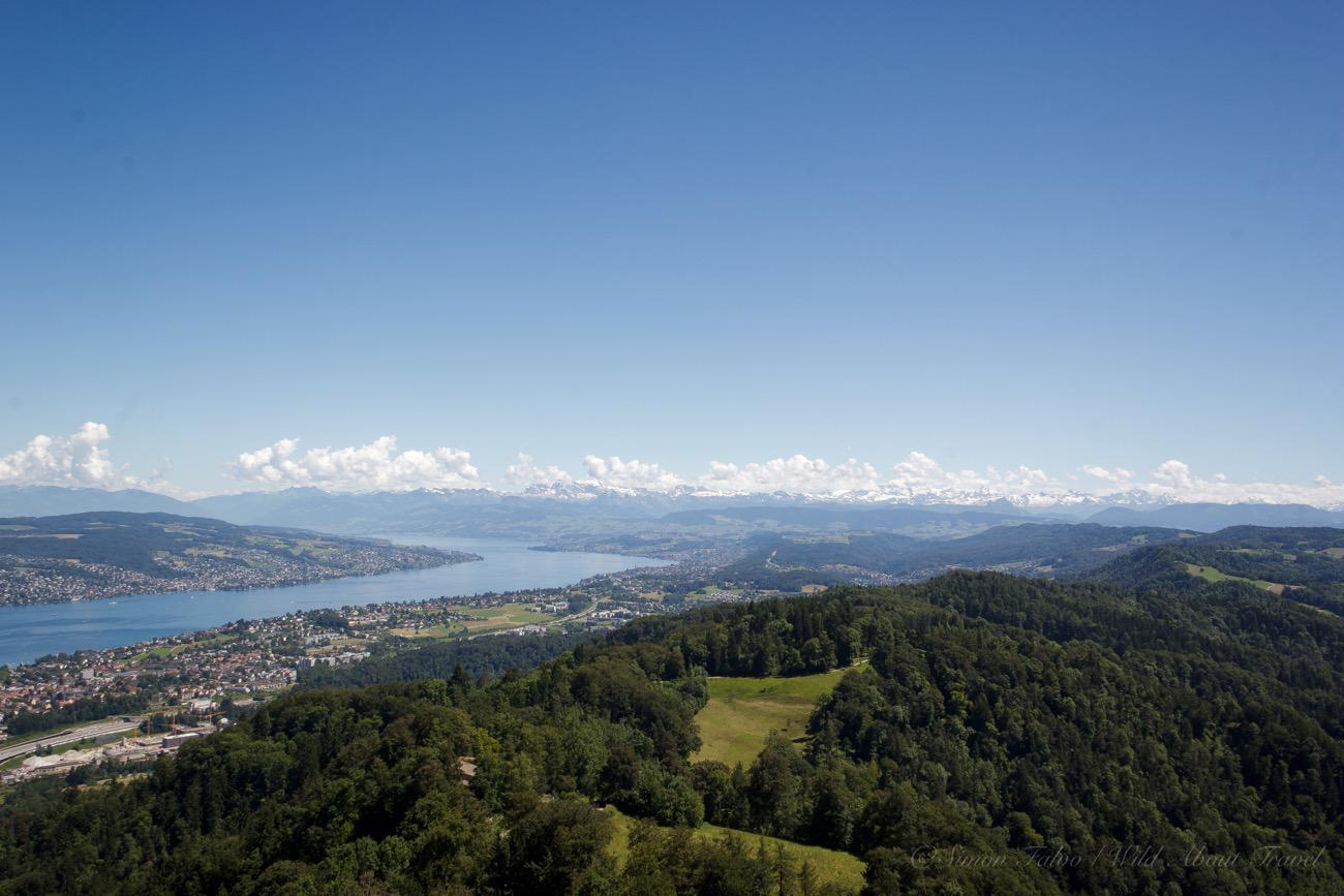 Zurich Lake from Uetliberg Mountain