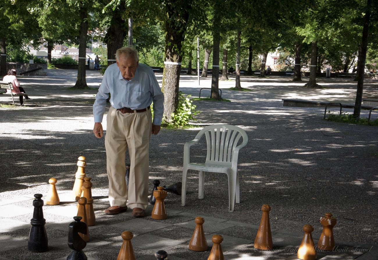Zurich, Playing Chess At Lindenhof
