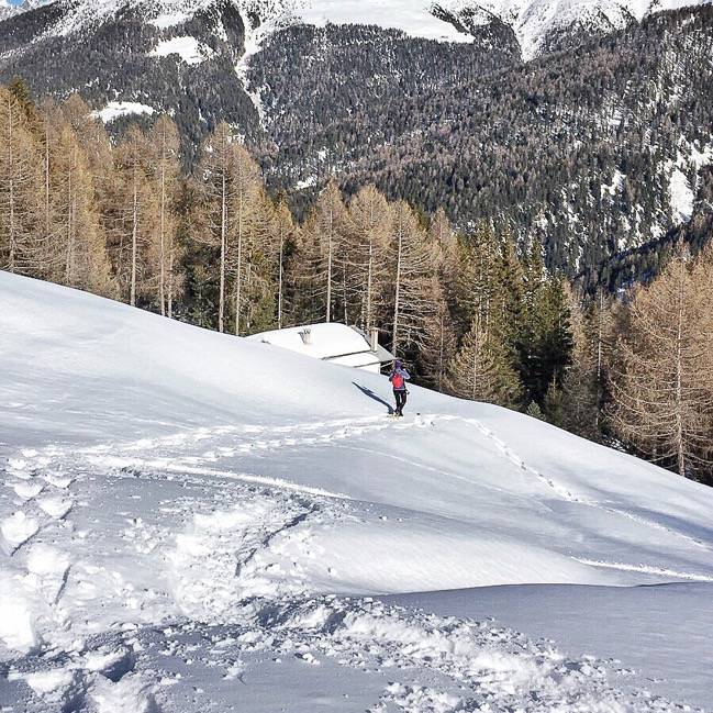Snowshoeing in Valtellina