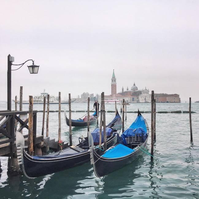 Venice iconic gondolas
