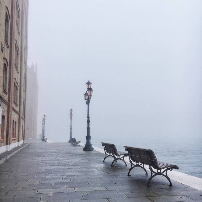 Venice wrapped in fog