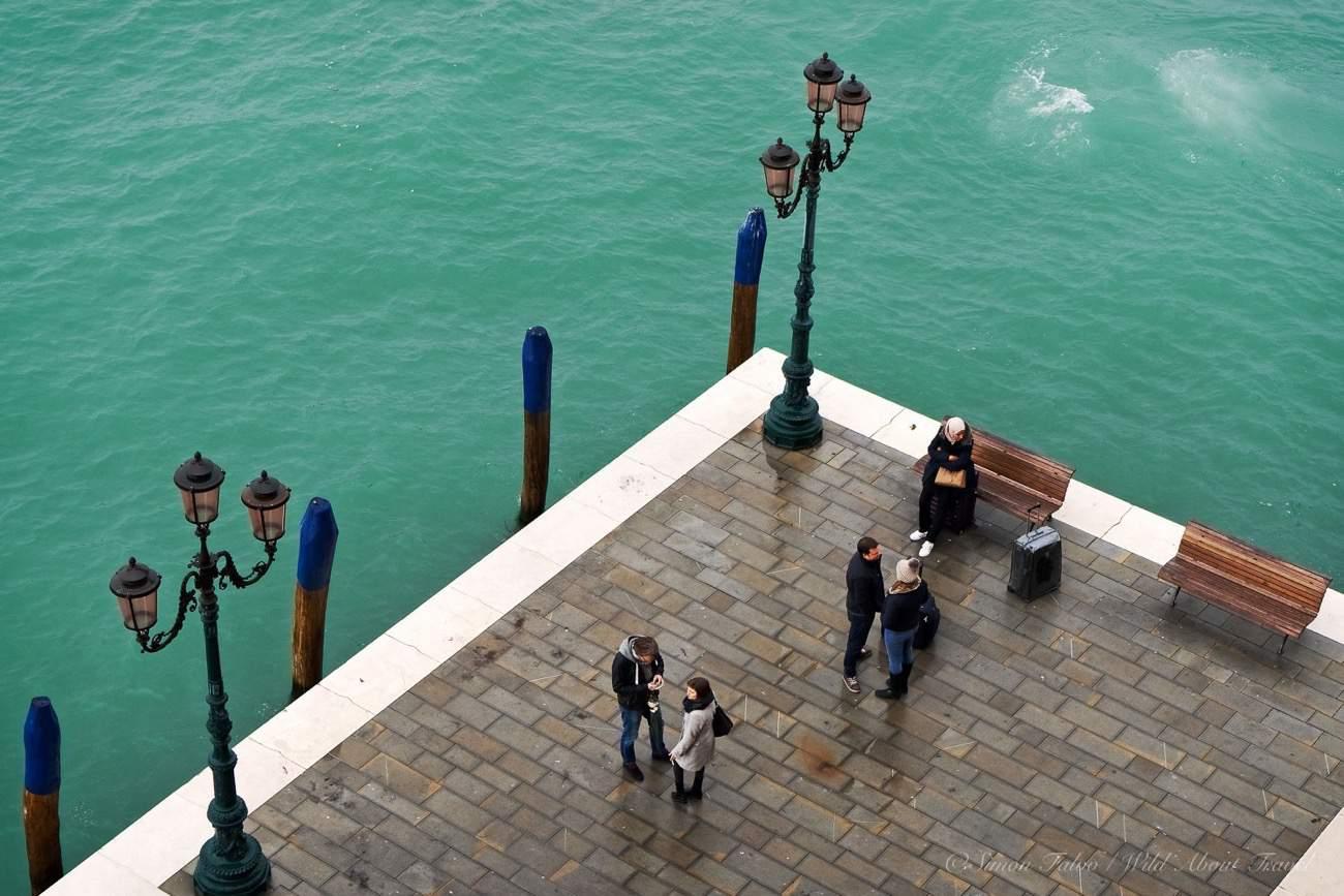 La Giudecca Waiting for the Taxi Boat_