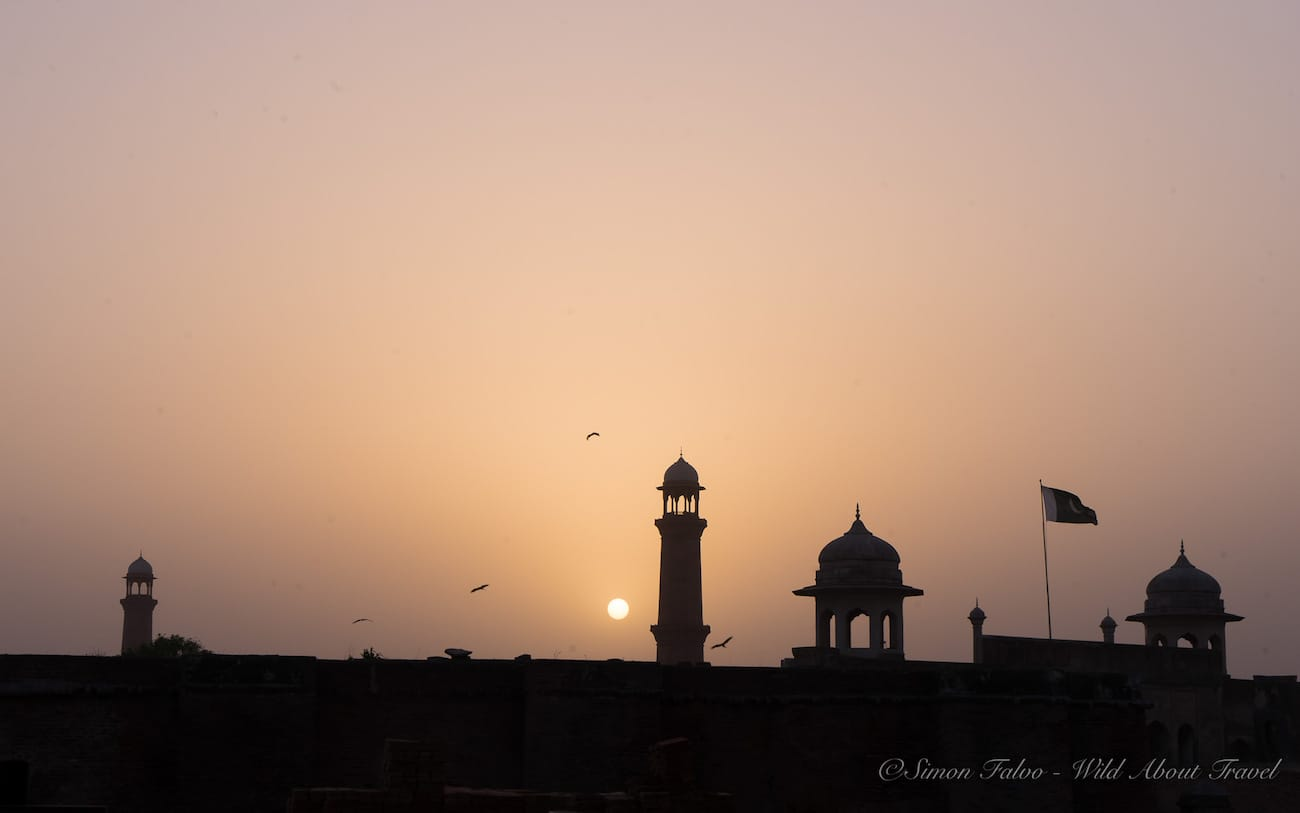 Lahore Fort at Sunset