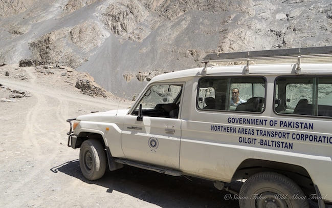 Shimshal Road Jeep