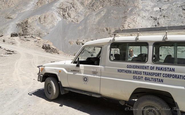 Shimshal Road Jeep