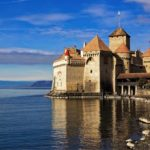 Lake Geneva, Chillon Castle in Montreux