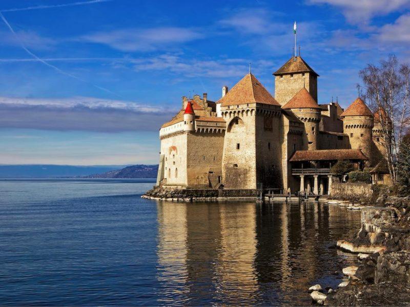 Lake Geneva, Chillon Castle in Montreux
