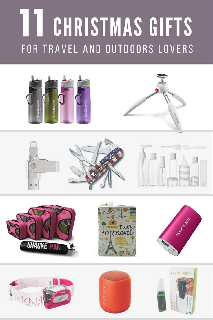 Christmas gifts for travel and outdoors lovers for Christmas gifts for travelers
