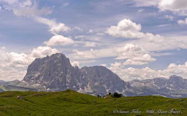 Seiser Alm seen from Val Gardena