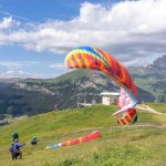 Dolomites, Paragliding at Seiser Alm