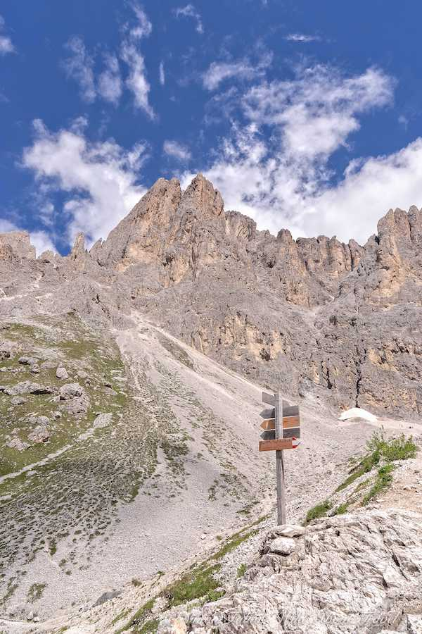 Italy, Dolomites, Approaching Rifugio Vicenza