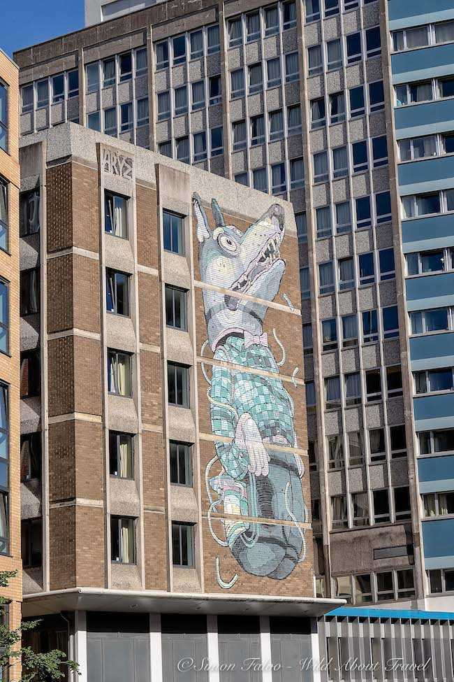 Bristol Street Art Aryz The Wolf