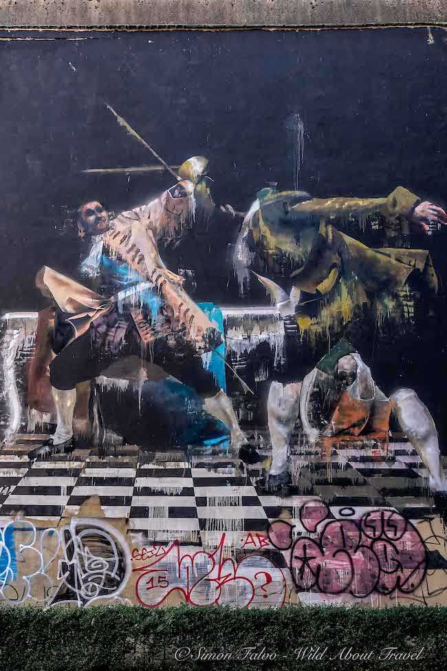 Bristol Street Art - Conor Harrington The duel of Bristol