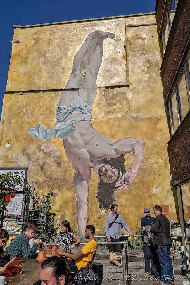 Bristol Street Art - Jesus Breakdance by Cosmo Sarson