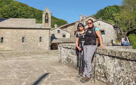Arrival in La Verna, with Alessia