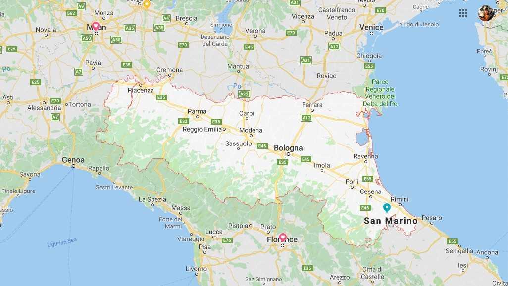 Emilia Romagna Map