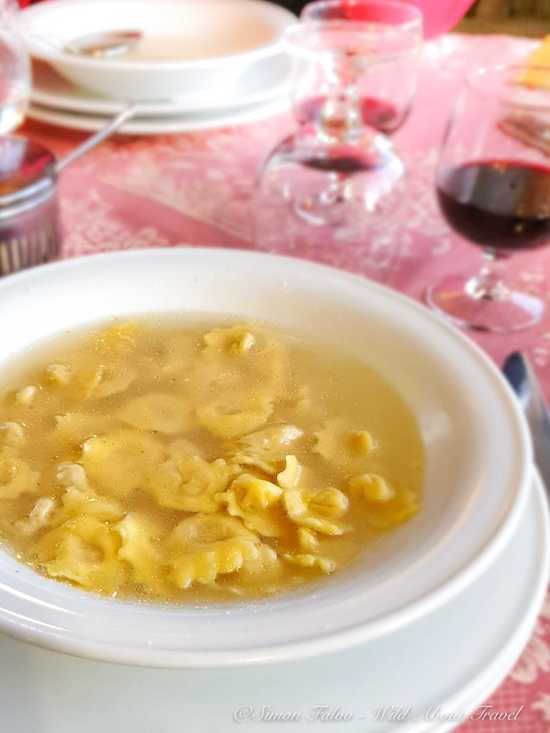 Emilia Romagna, Typical Home-Made Tortellini in broth